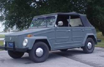 1973 Thing Restored and made to look like the old German Kubelwagen.  Painted gun metal gray, custom roll bar, push bar, new top, new tires. Asking $6900, call Bill Uhl at 352-347-6431